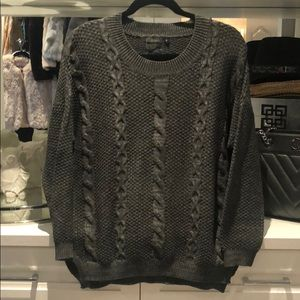 Milliou chunky cable sweater.